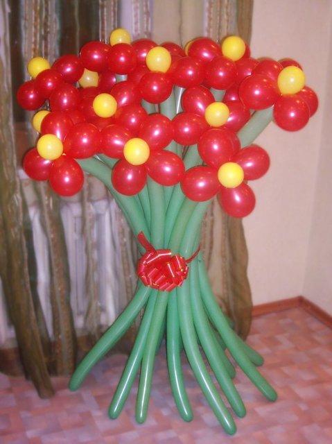Как сделать букет из шариков